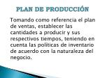 plan de producci n