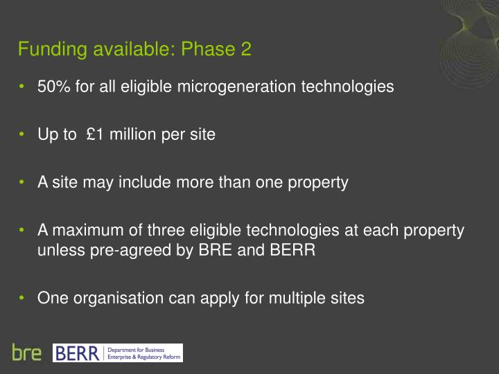 Funding available: Phase 2