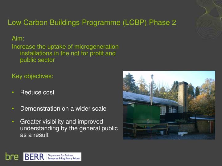 Low carbon buildings programme lcbp phase 2