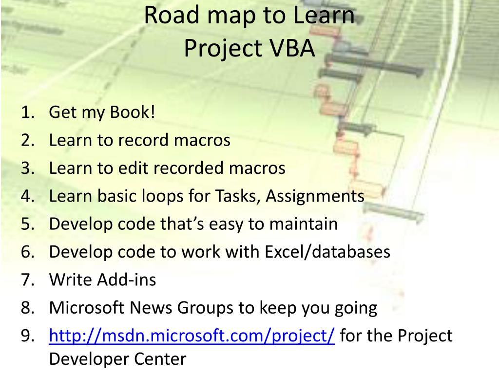 Road map to Learn