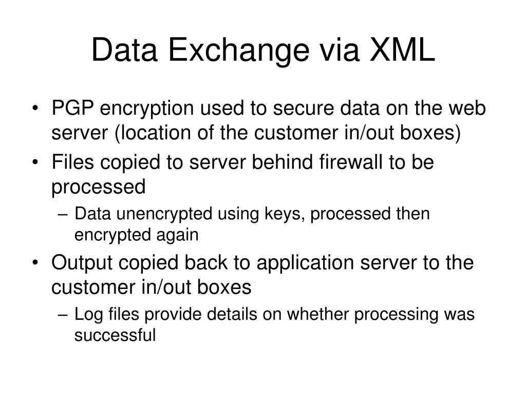Data Exchange via XML