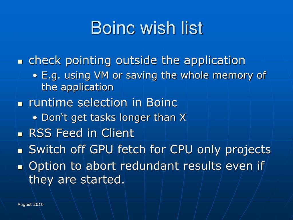 Boinc wish list