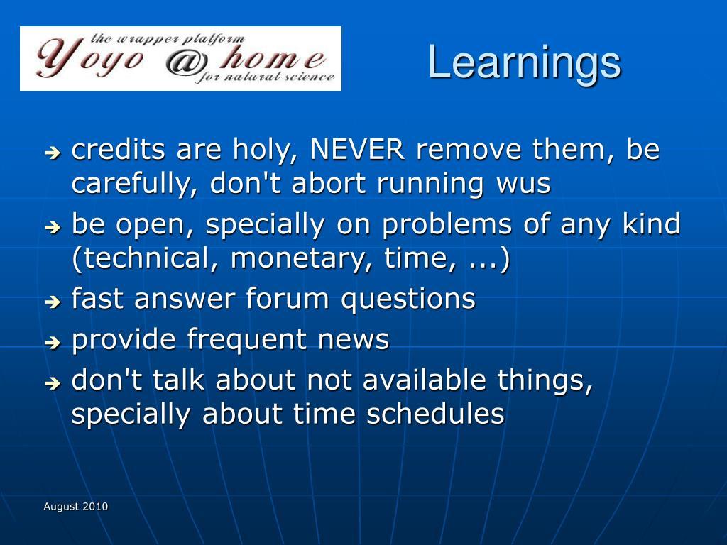 Learnings