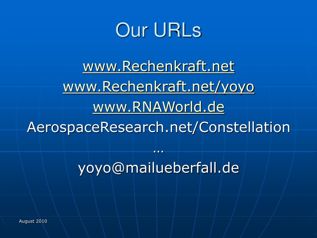 Our URLs