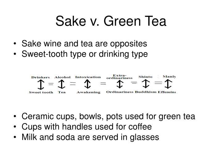 Sake v. Green Tea