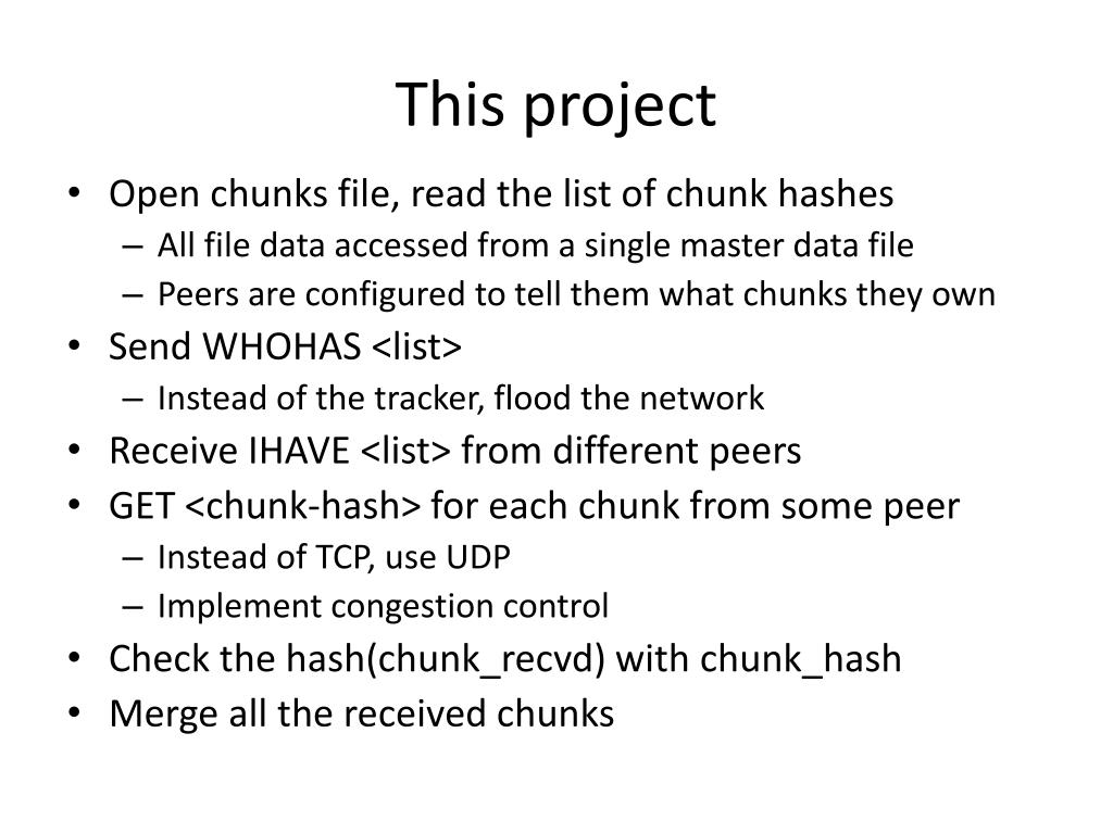 This project