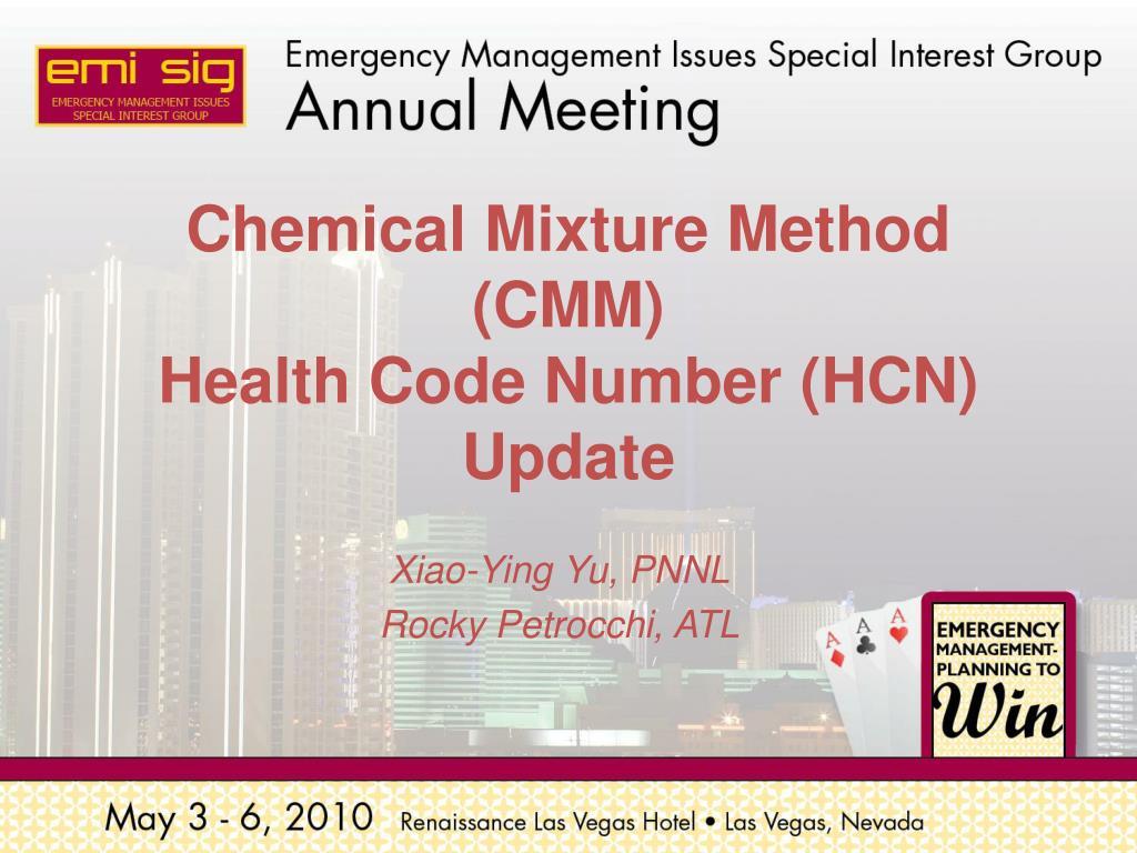 Chemical Mixture Method (CMM)