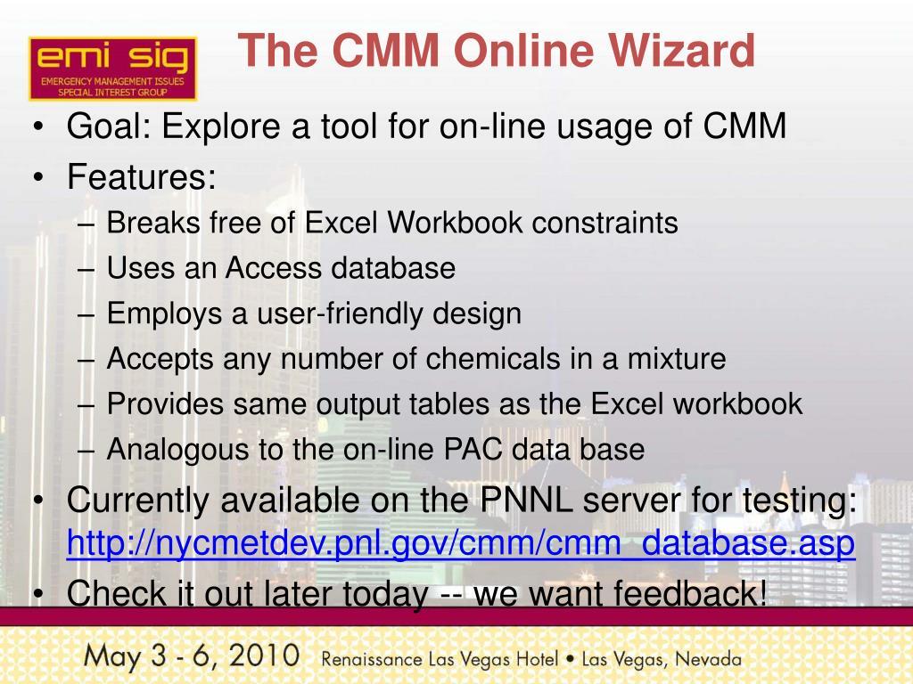 The CMM Online Wizard
