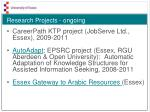 research projects ongoing