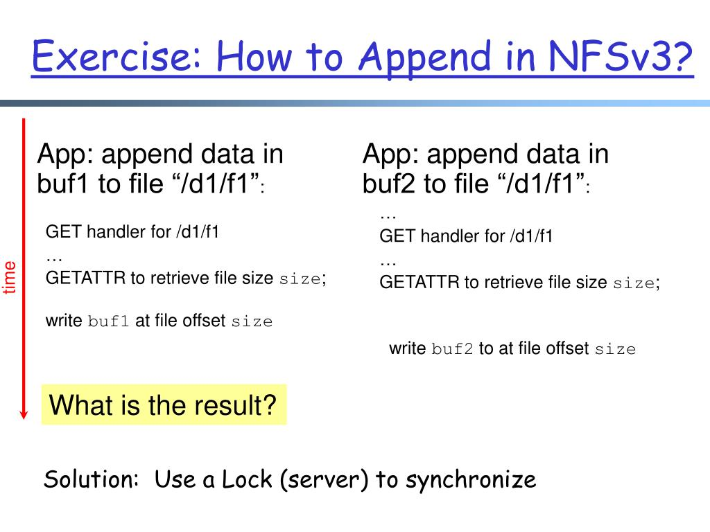 Exercise: How to Append in NFSv3?