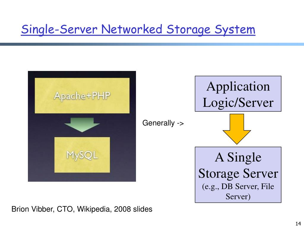 Single-Server Networked Storage System
