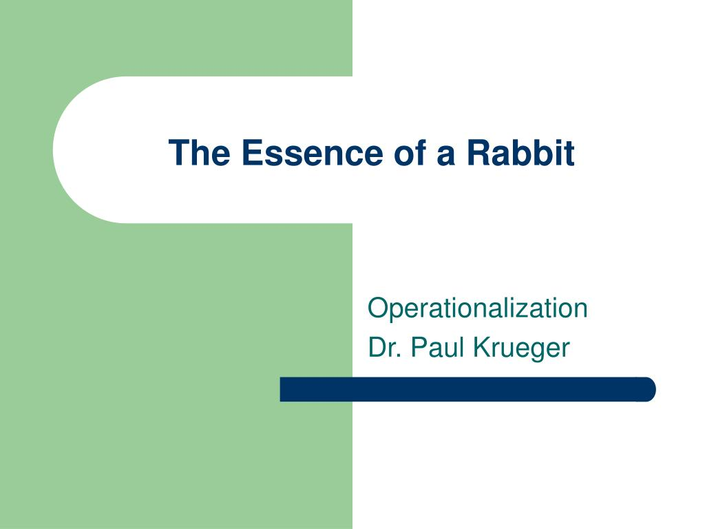 the essence of a rabbit