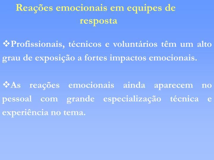 Reações emocionais em equipes de