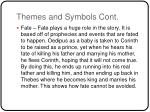 themes and symbols cont