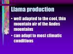 llama production25