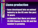 llama production26