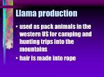 llama production30