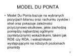 model du ponta