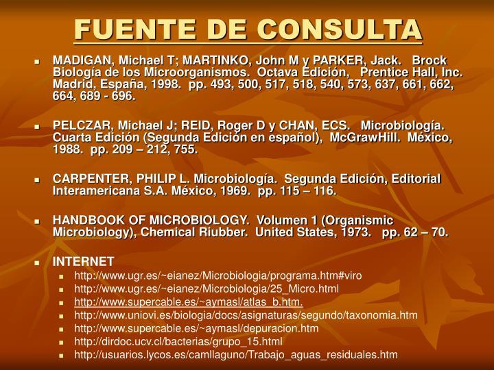 FUENTE DE CONSULTA