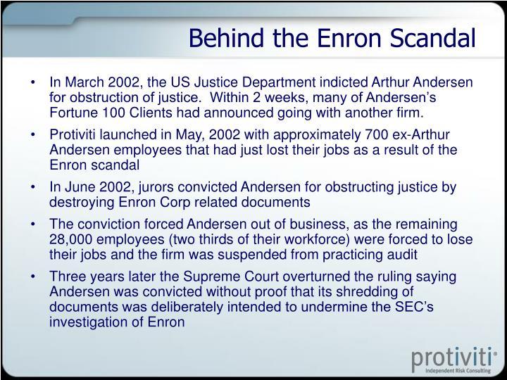 Behind the Enron Scandal