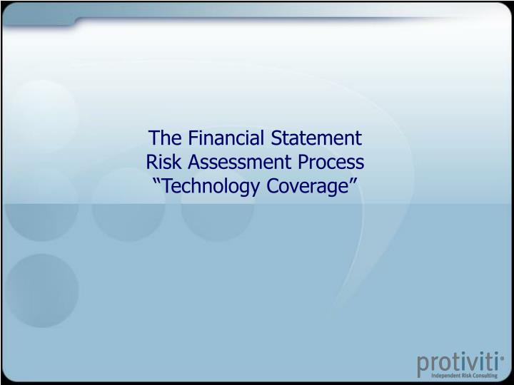 The Financial Statement