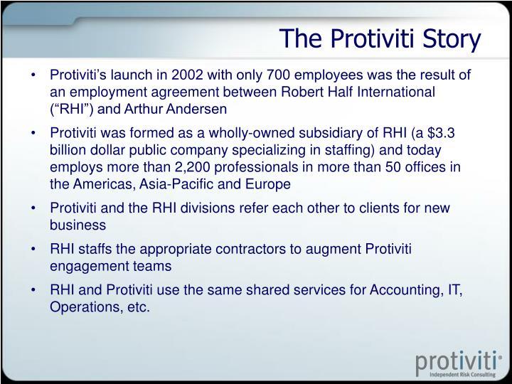 The Protiviti Story