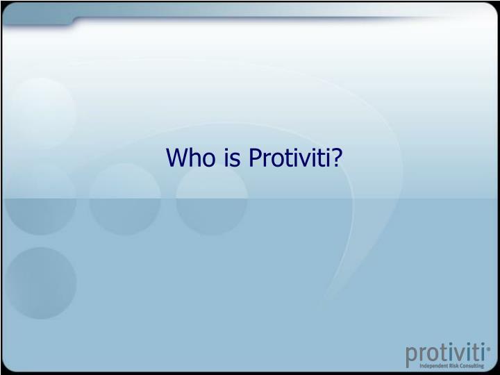 Who is Protiviti?