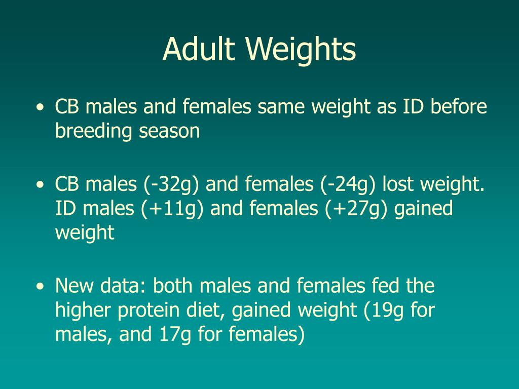 Adult Weights