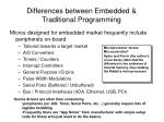 differences between embedded traditional programming