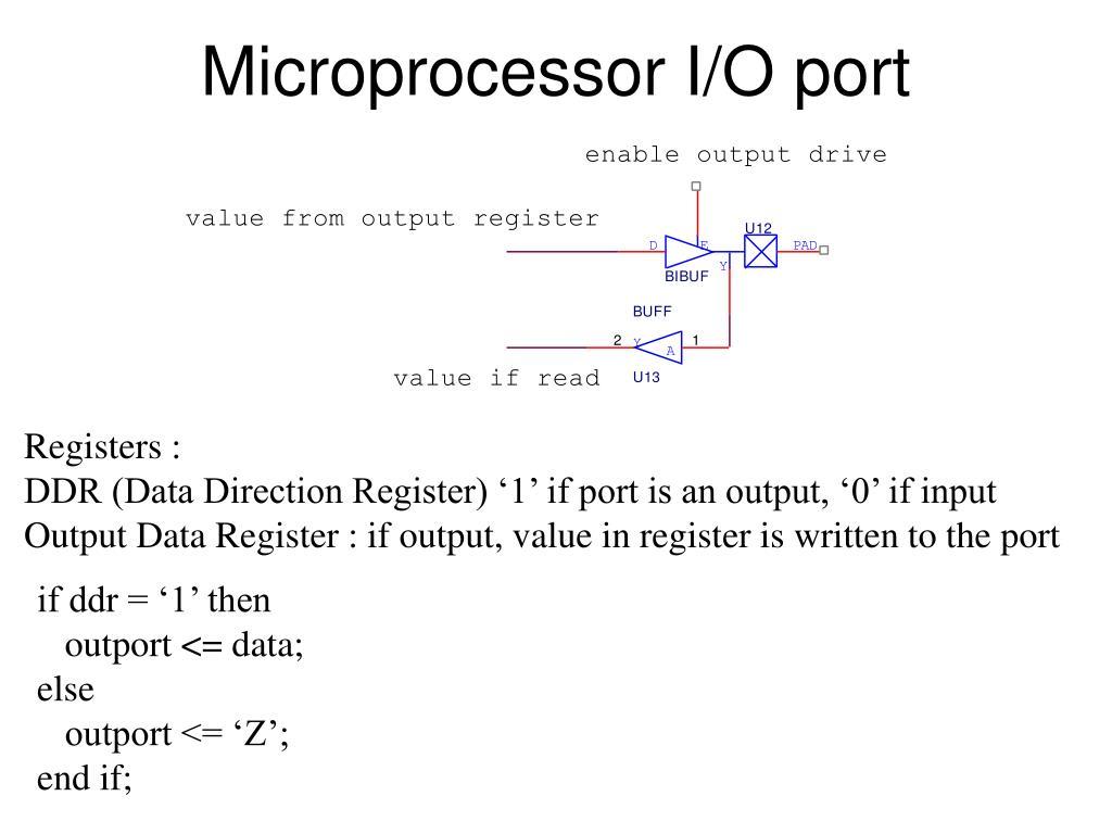 Microprocessor I/O port