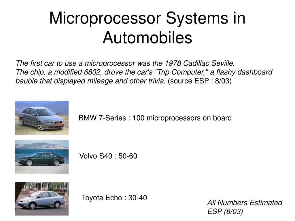 Microprocessor Systems in Automobiles