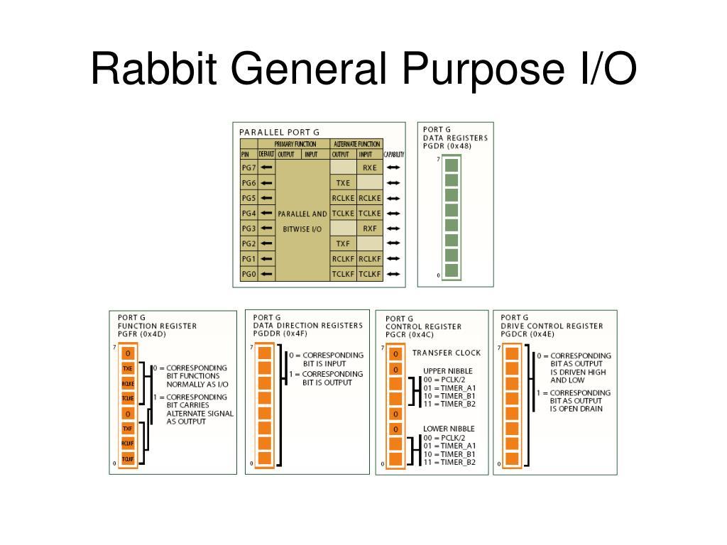 Rabbit General Purpose I/O
