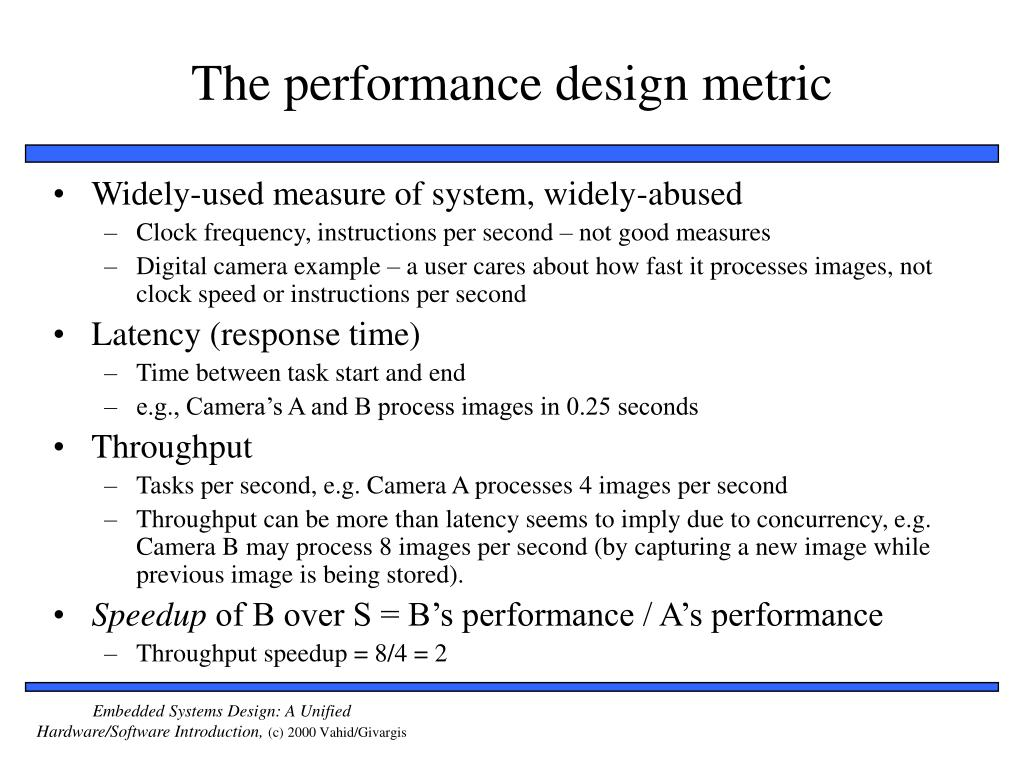 The performance design metric