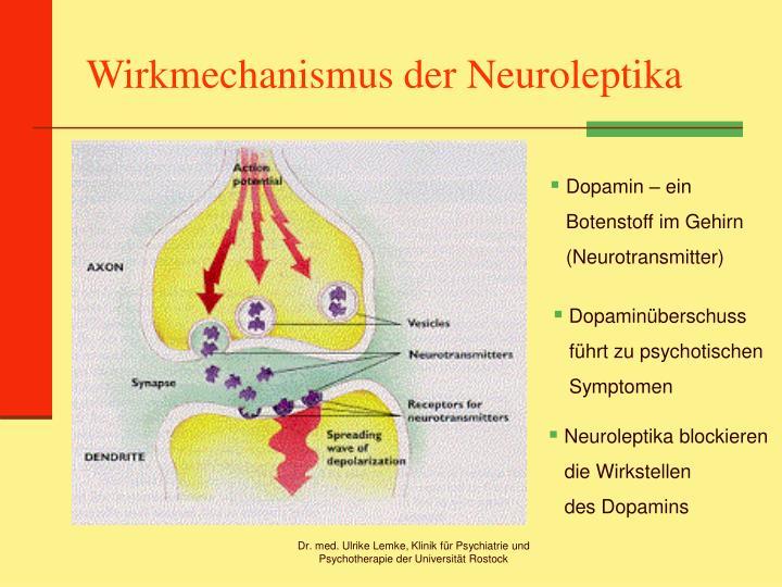Wirkmechanismus der Neuroleptika