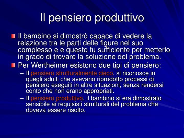 Il pensiero produttivo