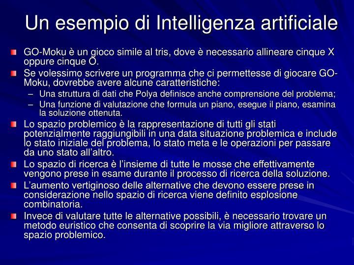 Un esempio di Intelligenza artificiale