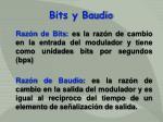 bits y baudio