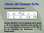 c lculo del cociente e b n o