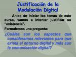 justificaci n de la modulaci n digital