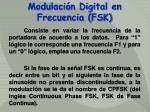 modulaci n digital en frecuencia fsk