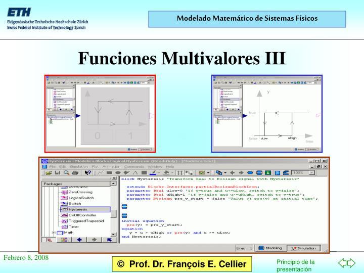 Funciones Multivalores