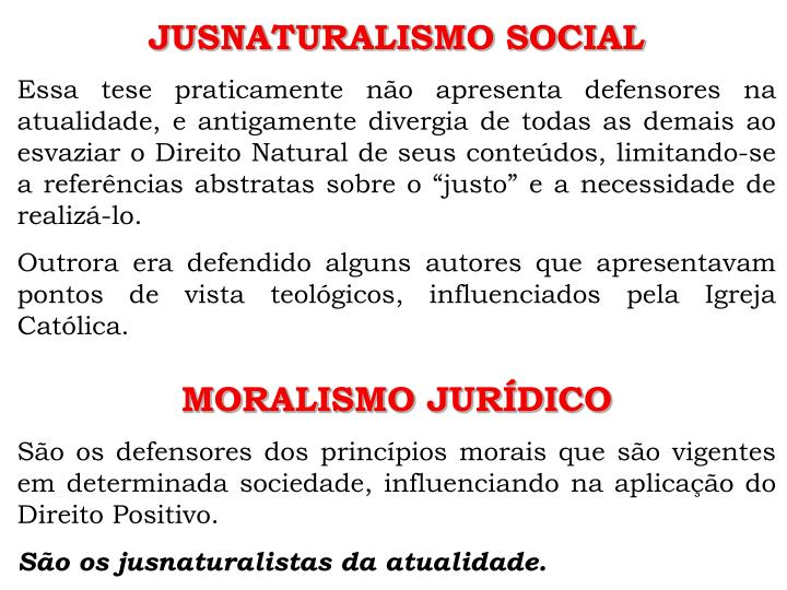 JUSNATURALISMO SOCIAL