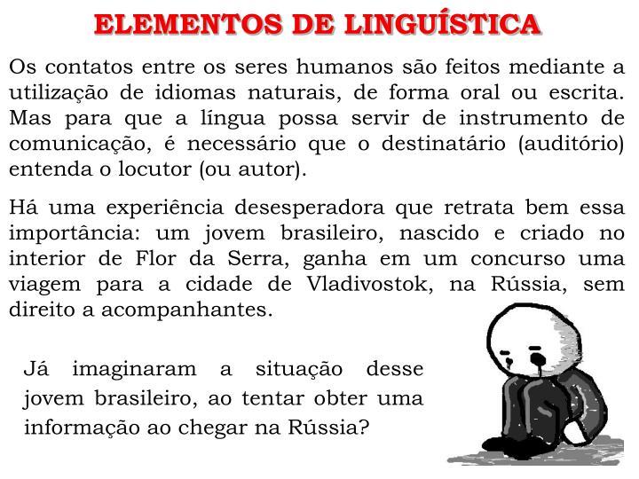 ELEMENTOS DE LINGUÍSTICA