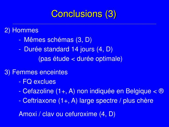 Conclusions (3)
