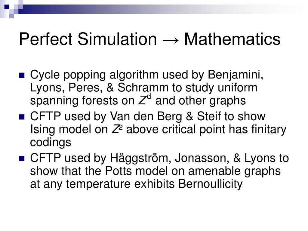 Perfect Simulation