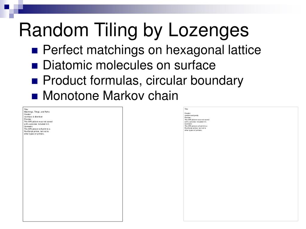 Random Tiling by Lozenges