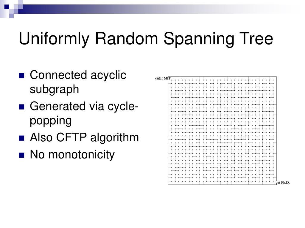 Uniformly Random Spanning Tree
