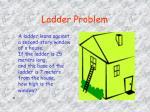 ladder problem