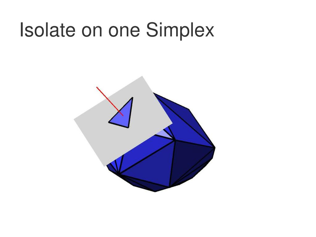 Isolate on one Simplex