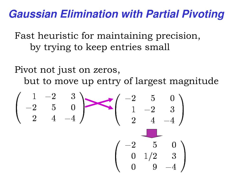 Gaussian Elimination with Partial Pivoting
